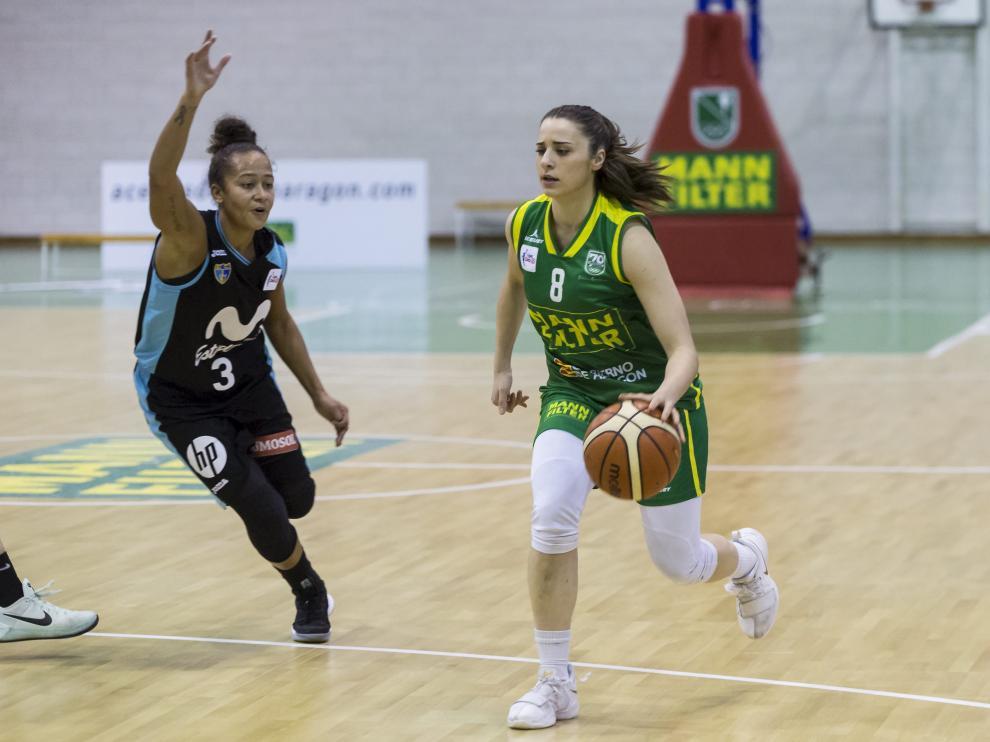 Irene Lahuerta, jugadora del Mann Filter Zaragoza.