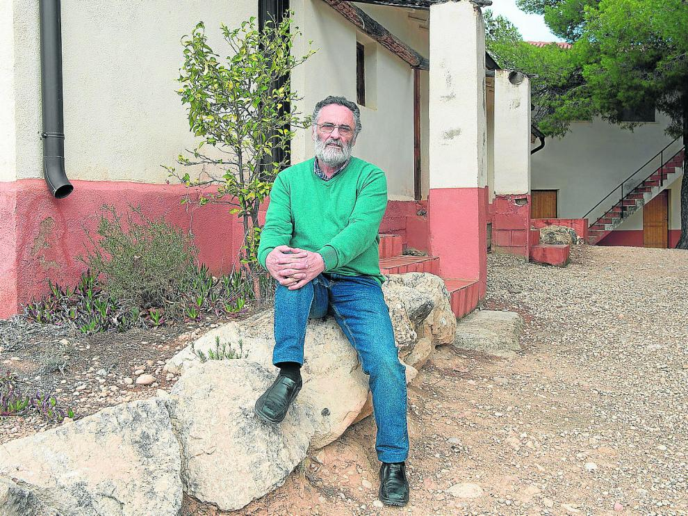 Javier Oquendo, en las instalaciones de la Escuela de la Naturaleza (Eana), que regenta.