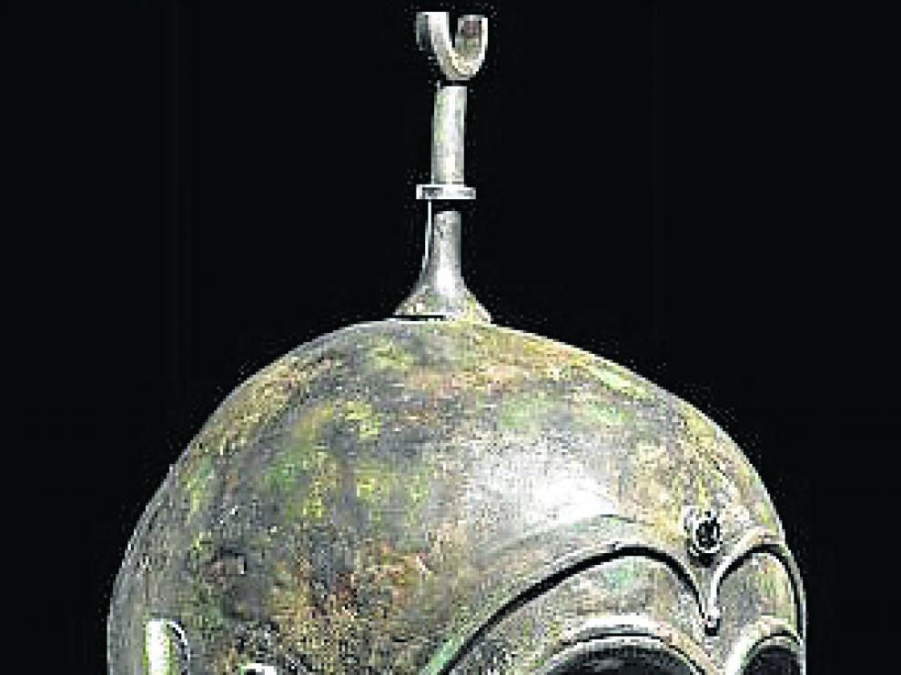 Uno de los cascos celtibéricos que se vendió en subasta en la sala Hermann Historica.