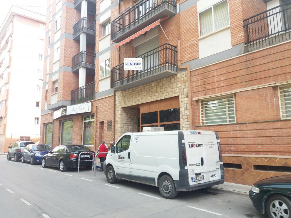 En la imagen, la finca de Teruel en la que ha aparecido la bomba.