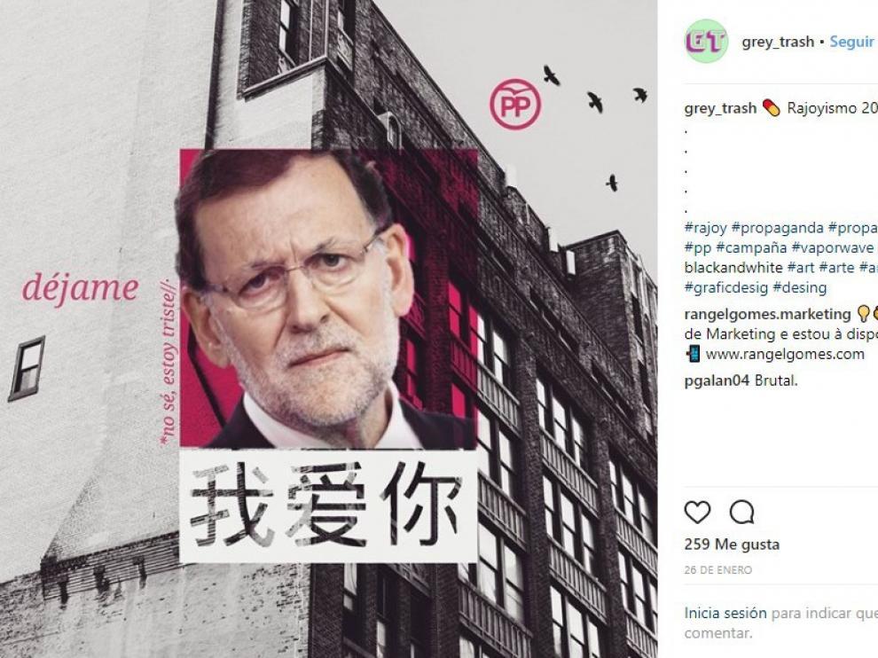El presidente del Gobierno, Mariano Rajoy es uno de los grandes protagonistas de los perfiles de redes sociales que relacionan el fenómeno 'vaporwave' con la sátira política.