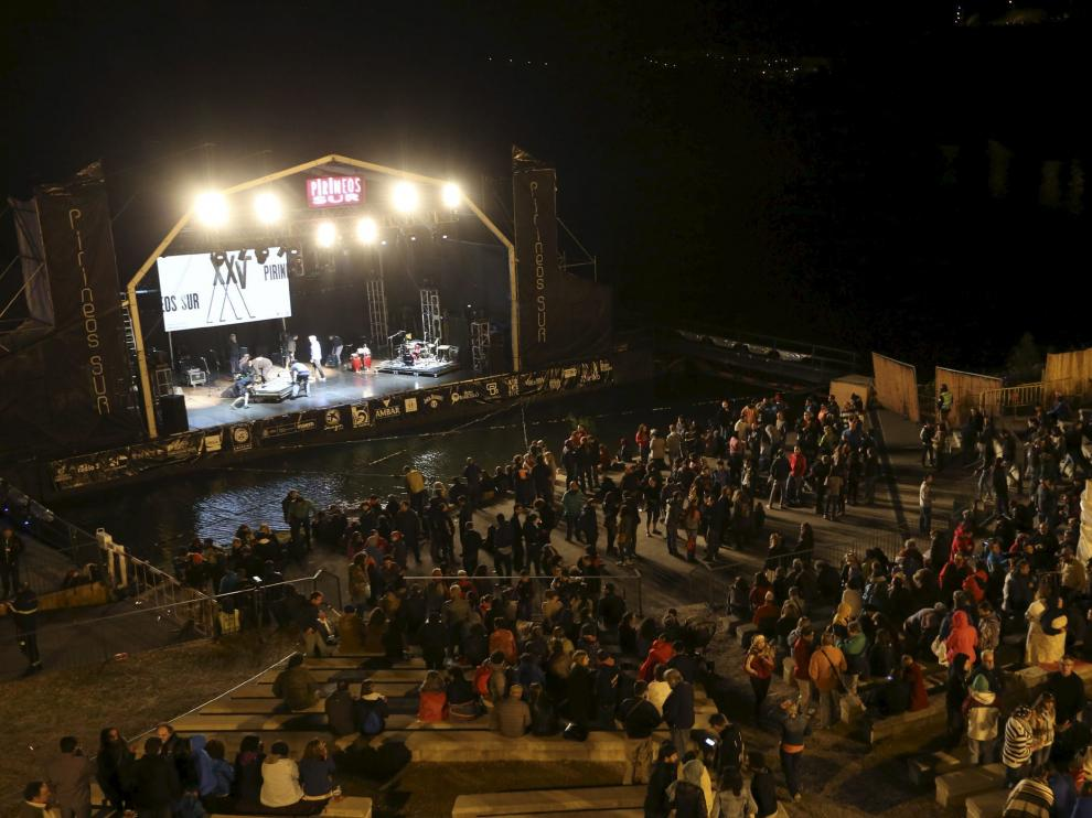 Concierto en julio de 2016 en Pirineos Sur, uno de los festivales afectado por el decreto de espectáculos