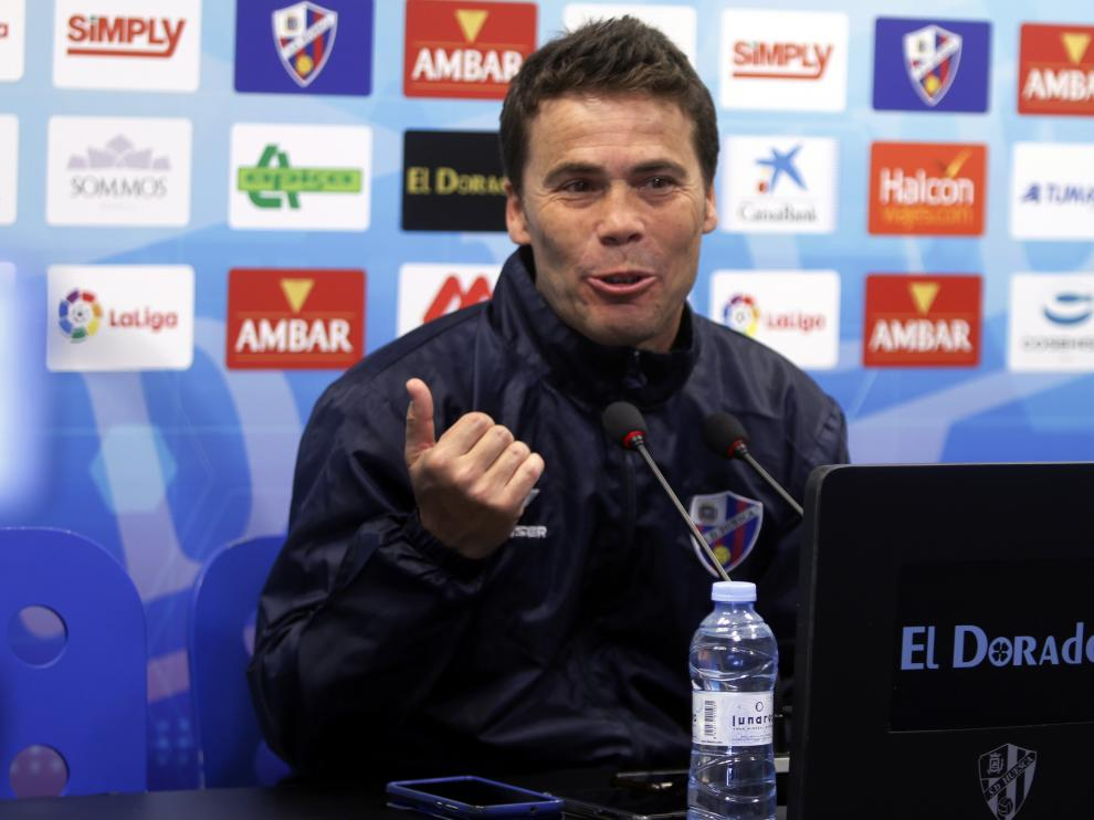 Joan Francesc Ferrer 'Rubi', entrenador de la SD Huesca.