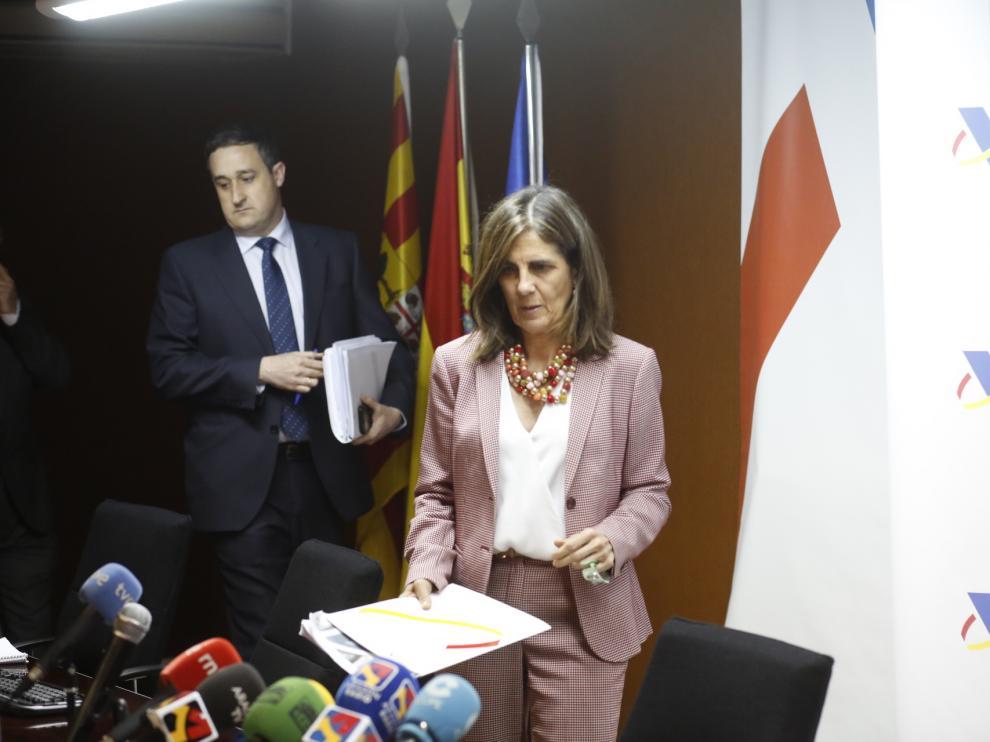 La delegada especial de la Agencia Tributaria en Aragón, Paloma Villaró