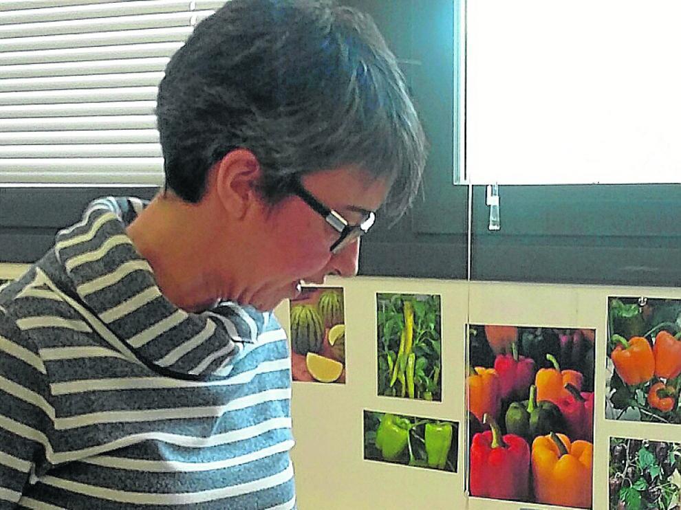 La investigadora Cristina Mallor en la sede del CITA.