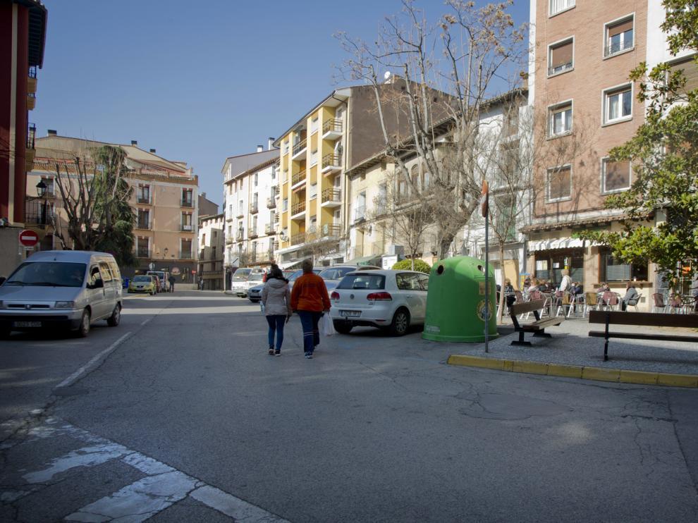 Una plaza de Calatayud, localidad que estará conectada con Soria a través de un autobús