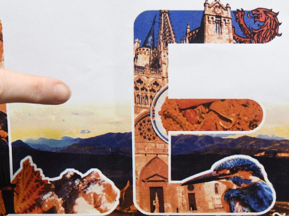 El sello, con la foto de la catedral de Burgos.