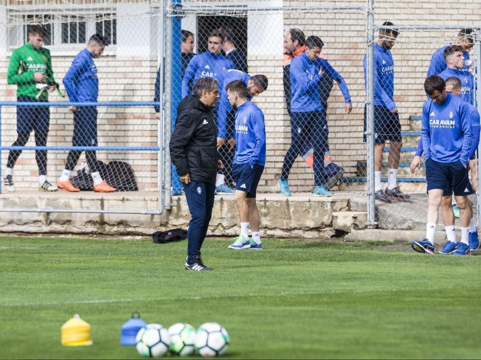 Inicio del entrenamiento del Real Zaragoza en la Ciudad Deportiva.