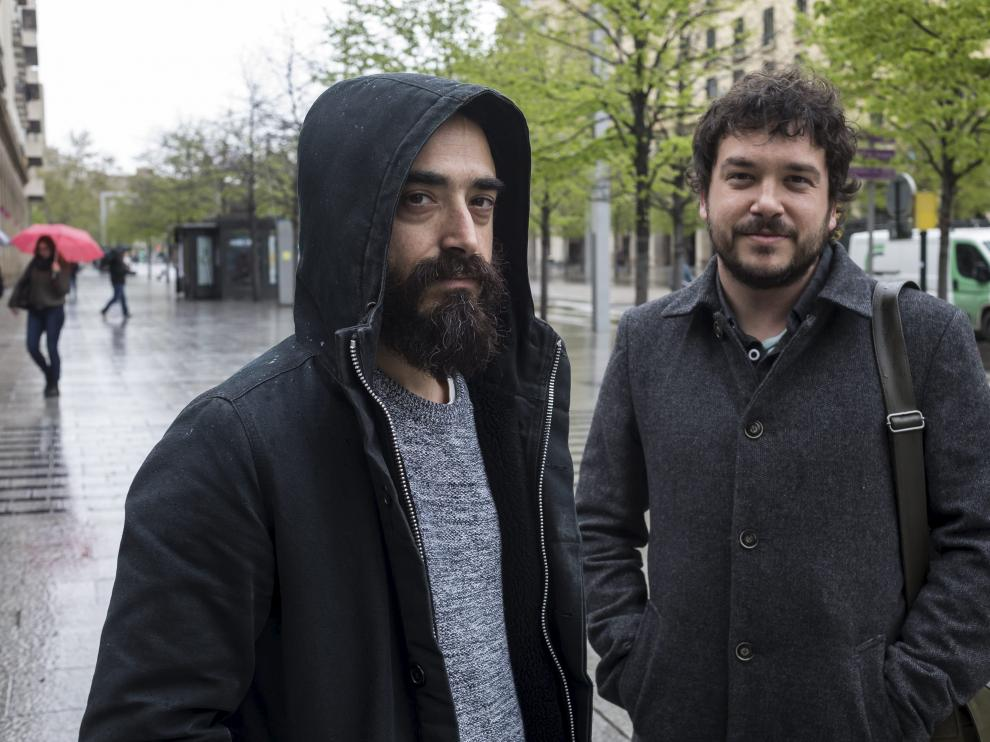 Pedro Moreno y Javier Lapuerta, artífices de la editorial aragonesa Rasmia Ediciones.