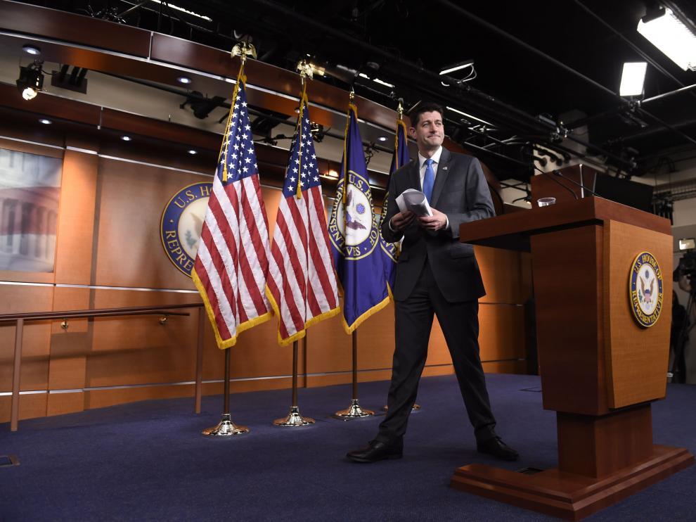 Paul Ryan, durante su comparecencia este miércoles en el Congreso.