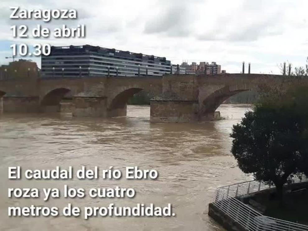 El Ebro continúa creciendo