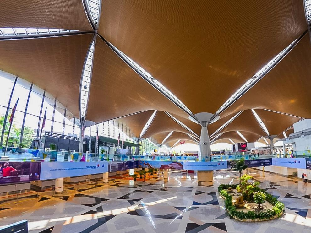 El aeropuerto internacional de Kuala Lumpur.