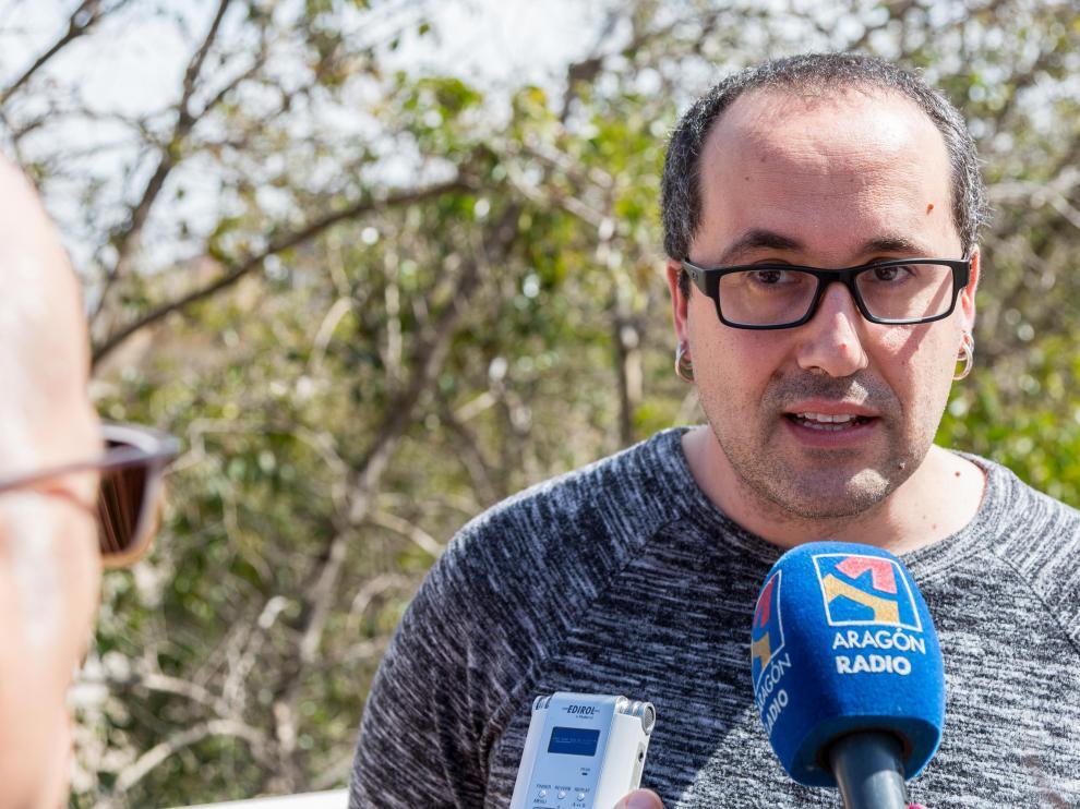 Alberto Cubero habla de la crecida del Ebro.