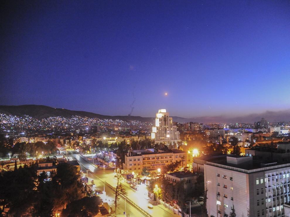 Damasco, esta pasada madrugada, cuando se han producido los bombardeos de EE.UU. y sus aliados.