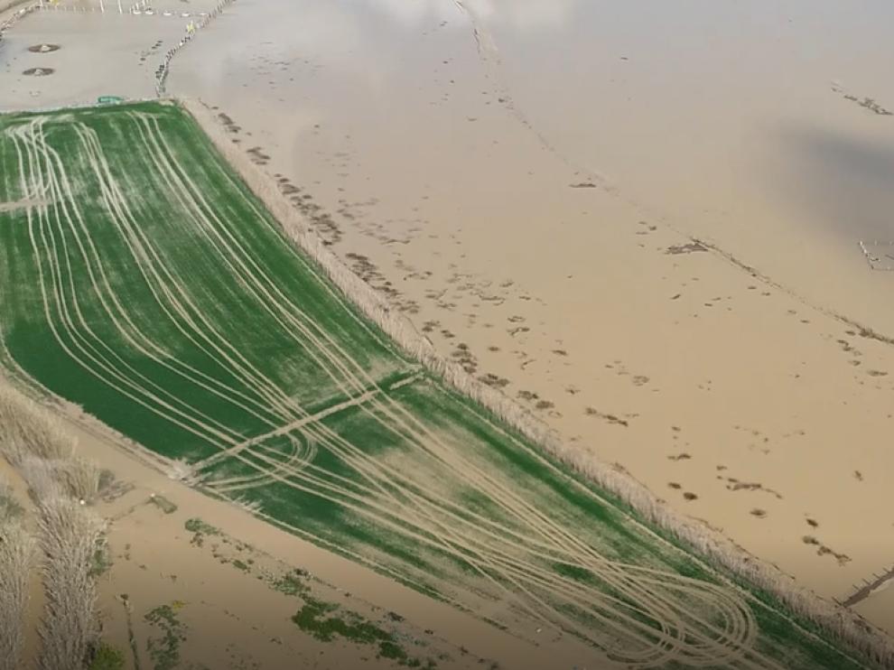 Imagen aérea del Ebro