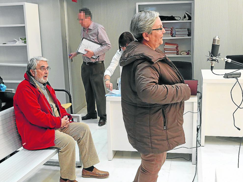 Los acusados José Antonio Ramón Teijelo y María Victoria Gómez Méndez en la Audiencia Nacional.