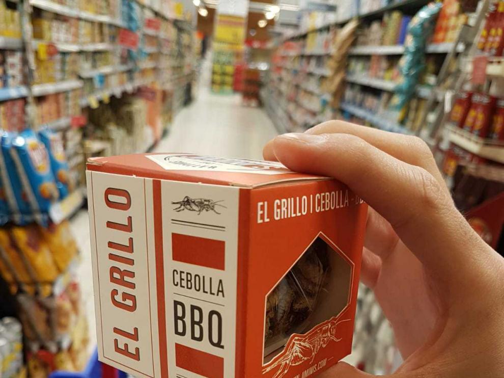 Imagen de uno de los alimentos elaborados a base de insectos por Carrefour.