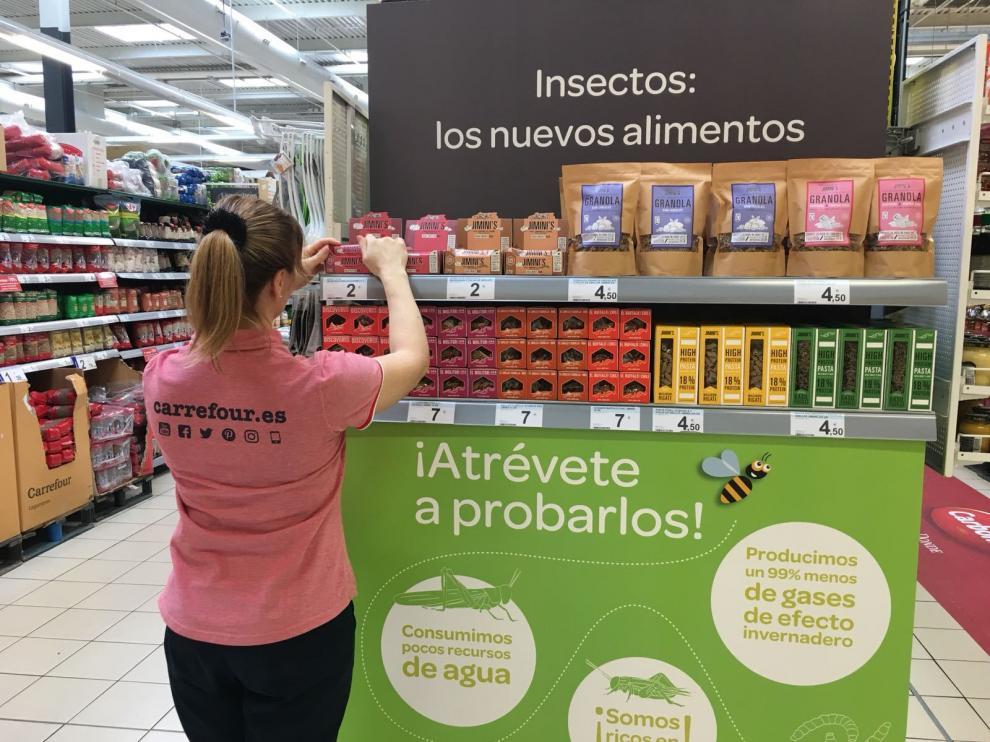 Carrefour se lanza a la venta de insectos.