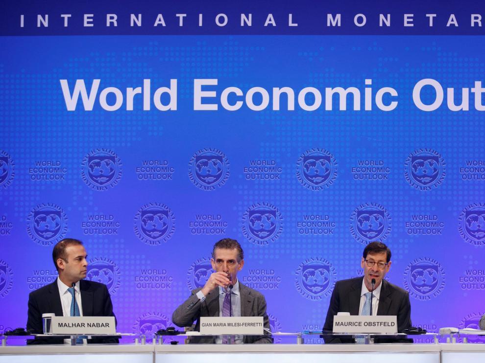 Presentación del informe 'Perspectivas Económicas Mundiales' en Washington.