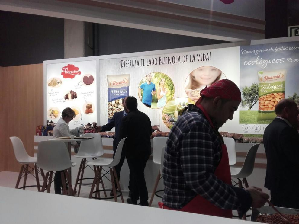 Uno de los expositores aragoneses en la feria Alimentaria 2018 que se celebra en Barcelona.