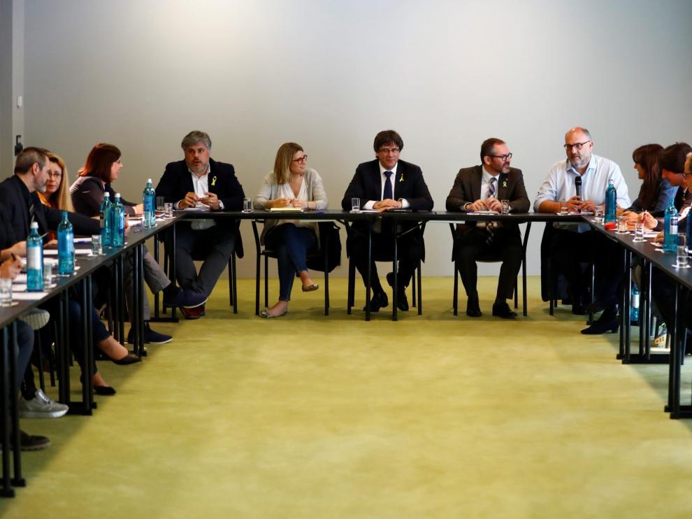 Los diputados de JxCat se han reunido este miércoles en Berlín, con la presencia de Puigdemont.