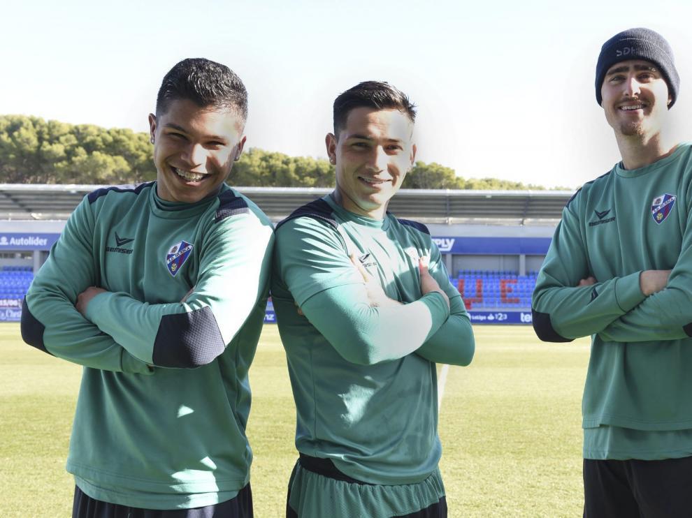 Cucho, Chimy, Rescaldani y Alexander en El Alcoraz.