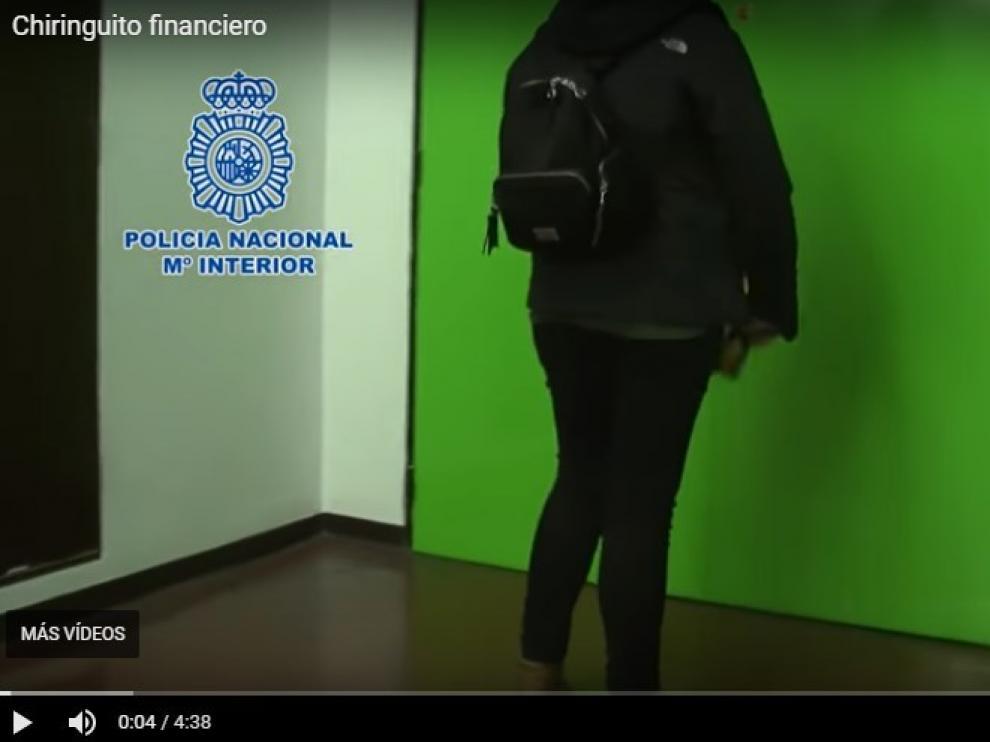 Una imagen del vídeo difundido por el Ministerio del Interior sobre el 'modus operandi' de los dirigentes de esta organización criminal.