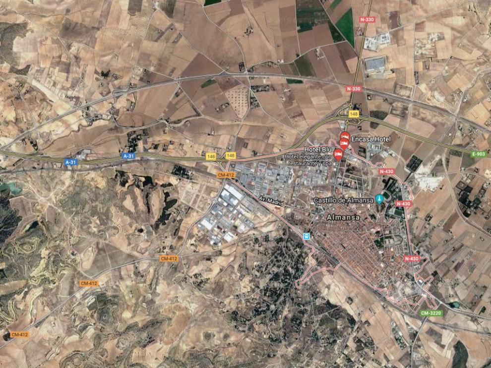Almansa, municipio donde ha tenido lugar el accidente