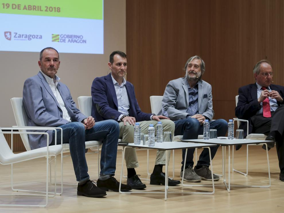 Víctor Fernández, Carlos Clos, José Francisco Mendi y Manuel Guedea.