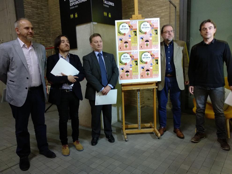 Presentación del Día Internacional del Libro, en Zaragoza.