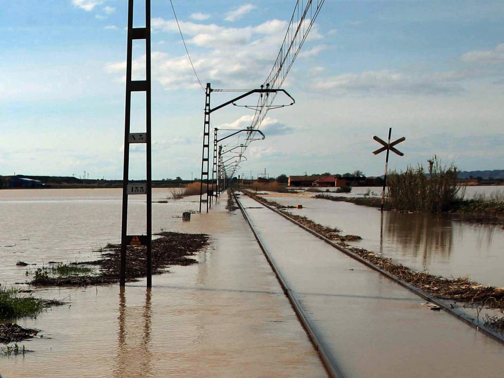 Crecida del río Ebro.