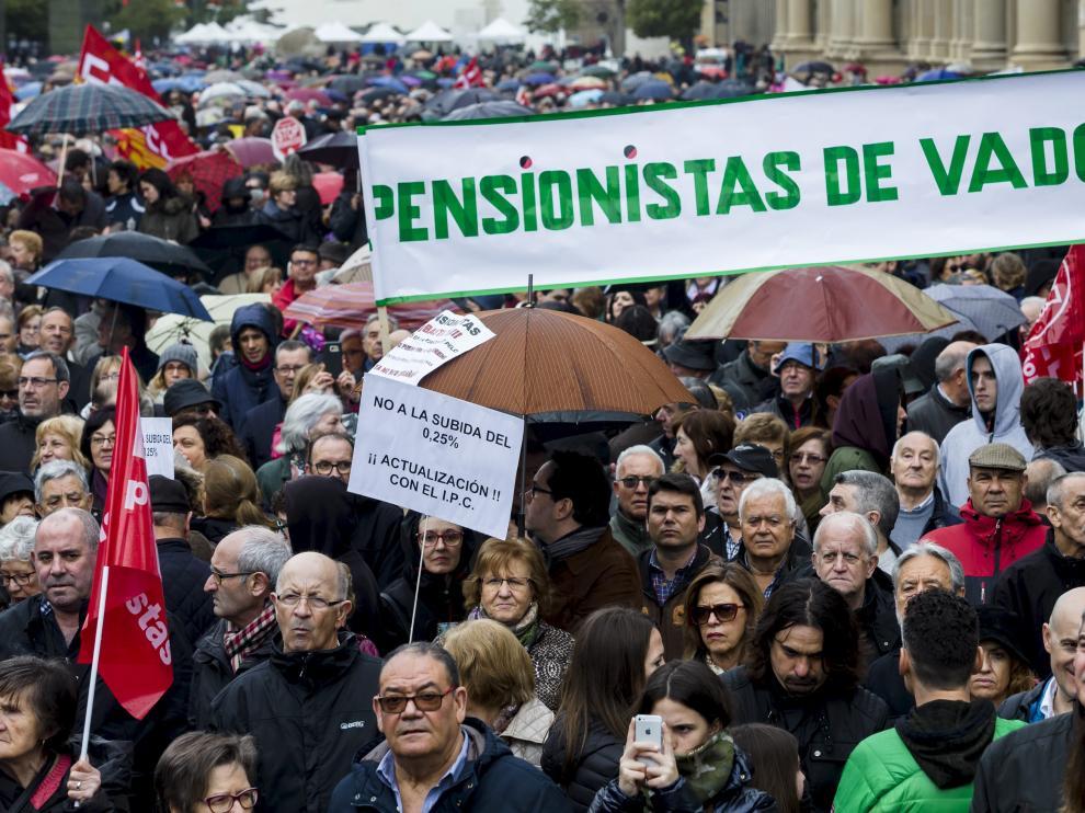 Manifestación por unas pensiones dignas en marzo.