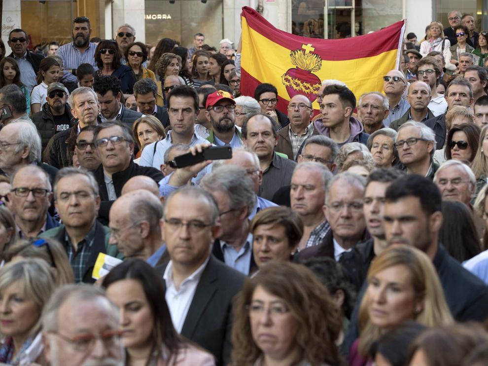 Manifestación en el centro de Pamplona por los agredidos en Alsasua.