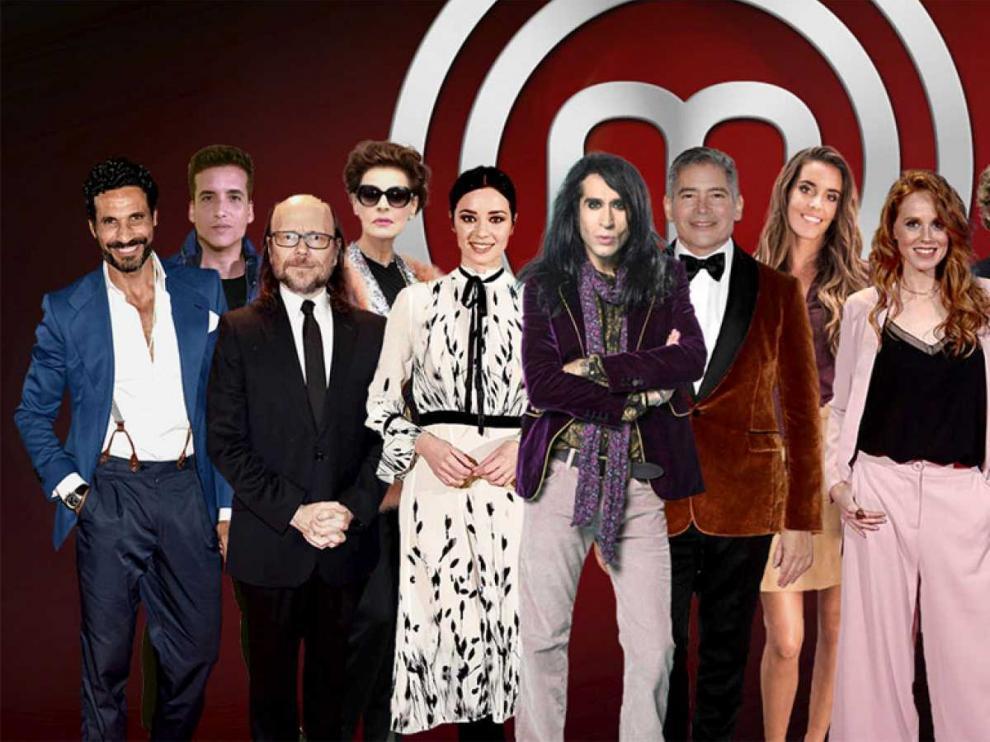 Los doce aspirantes famosos que competirán en 'MasterChef Celebrity'.