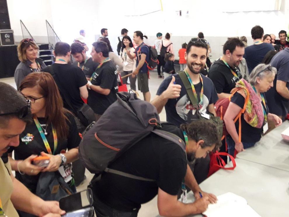 Participantes de la yincana.