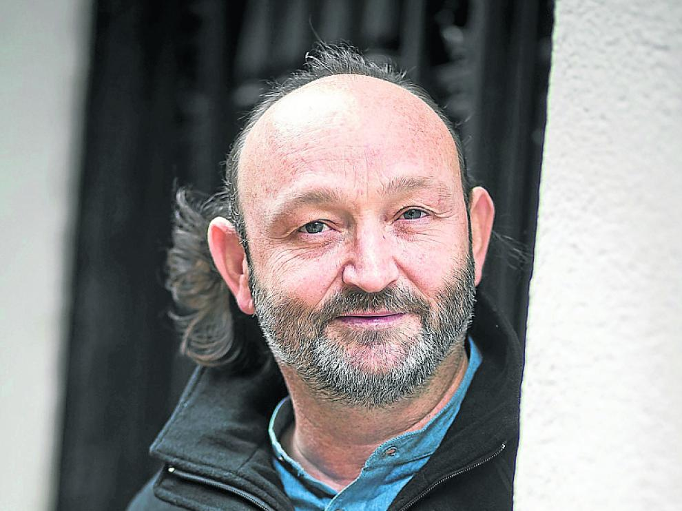 Moncho Ferrer, en su visita a Zaragoza el pasado lunes.