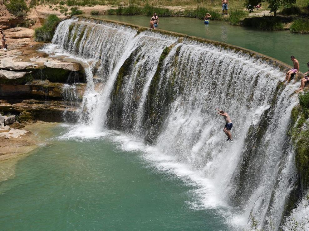 El Salto de Bierge, en la sierra de Guara.