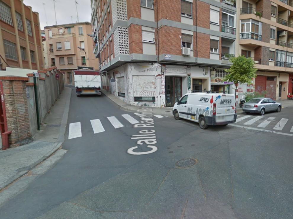 Calle de María Moliner con Ramón Berenguer IV, lugar de uno de los atropellos