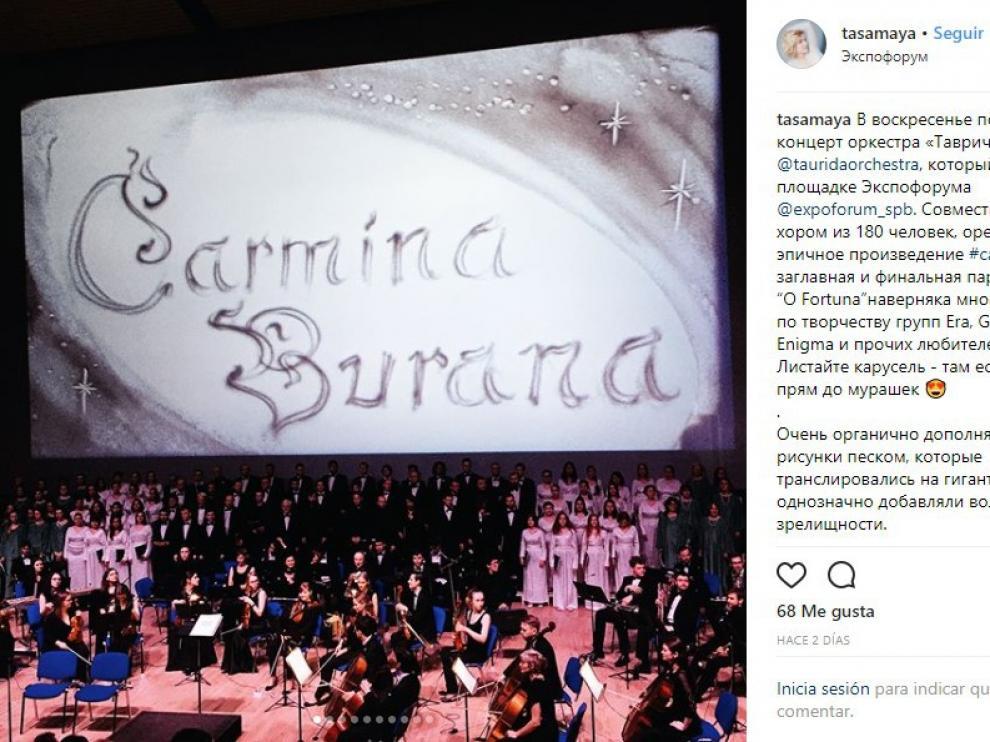 Los miembros de la OrquestaSinfónica InternacionalTavrichesky interpretaron recientemente 'Carmina Burana' en el Expoforum de San Peterburgo.