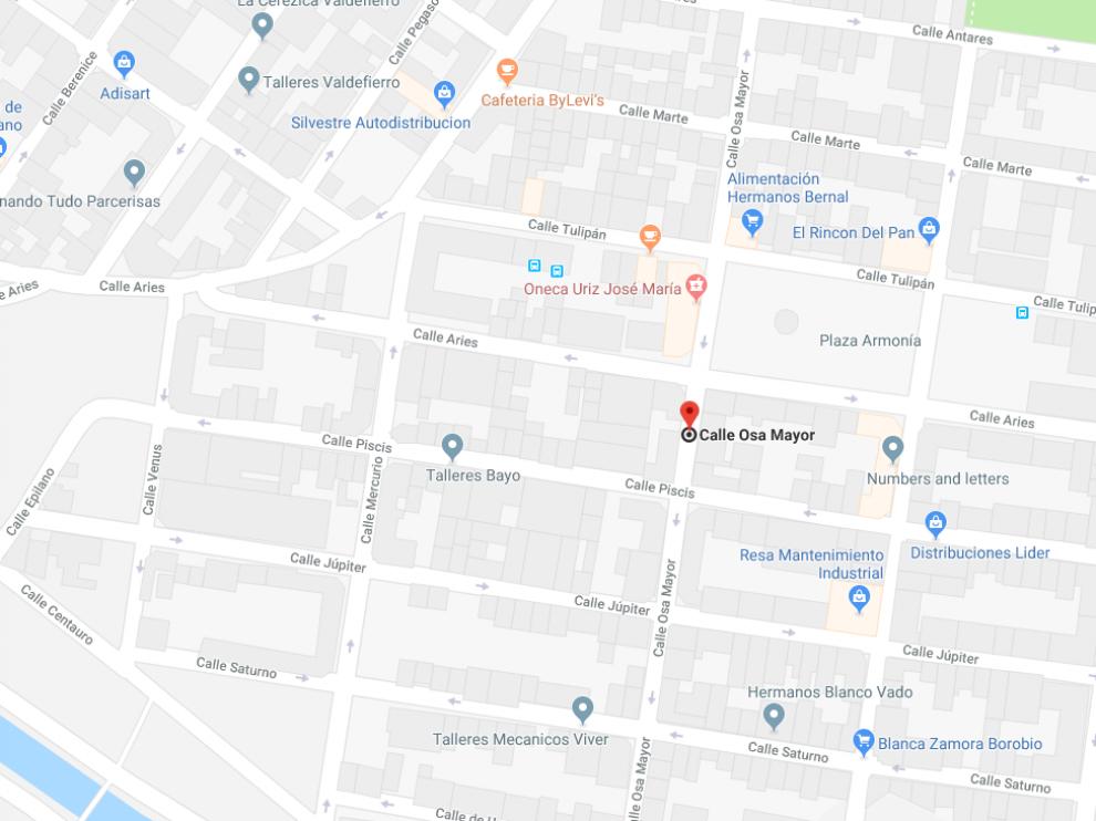 Calle del barrio Oliver en la que ha tenido lugar el atropello