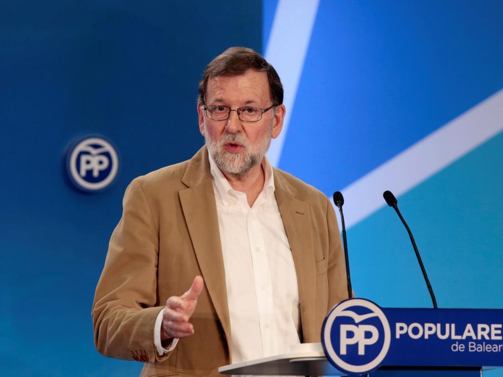 Rajoy alerta de que el gobierno de Baleares siga el mismo camino que Cataluña