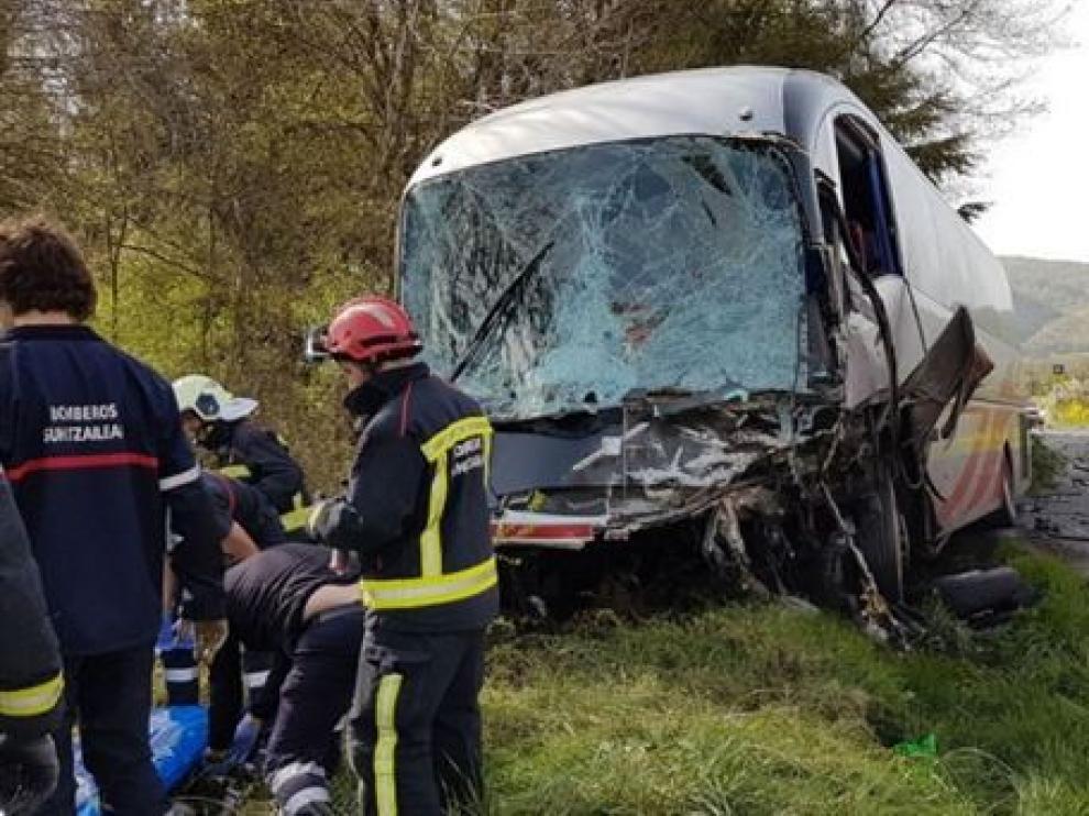 Accidente de autobús en Lantz