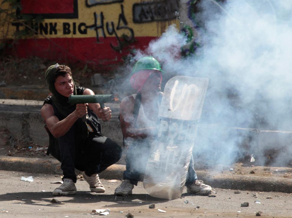 Protesta violenta en las calles de Managua