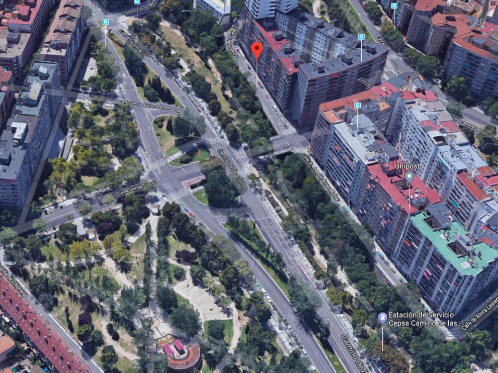 Una persona atendida por inhalar humo en el centro de Zaragoza
