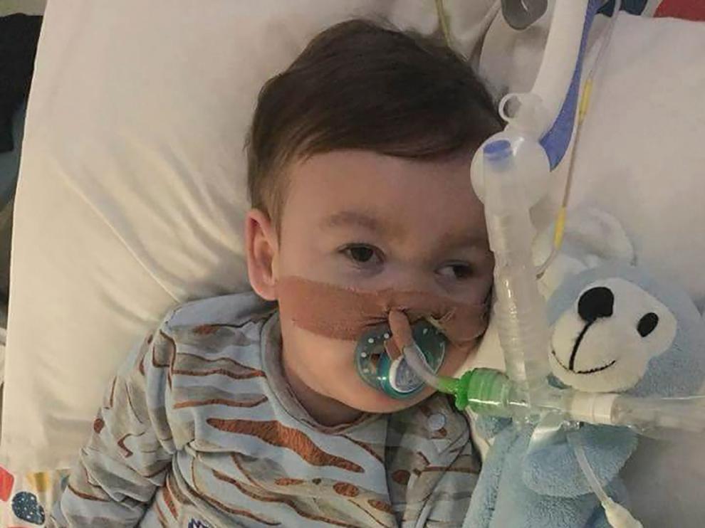 Alfie Evans en el Hospital infantil Alder Hey en Liverpool