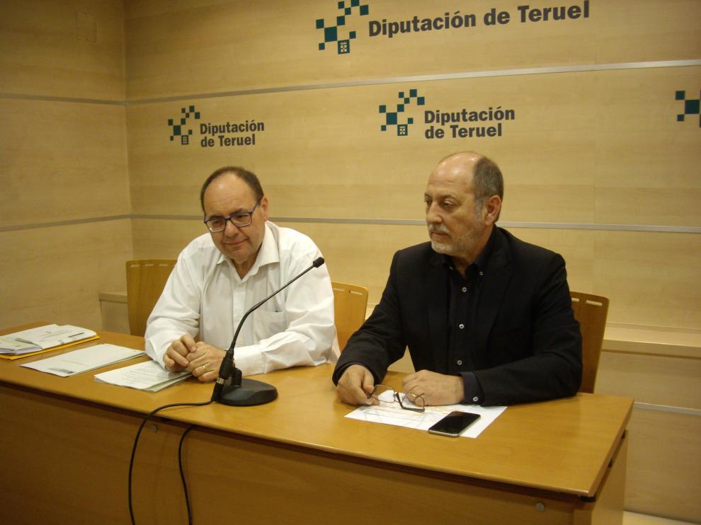 José Ramón Ibáñez y José Ramón Morro, en la rueda de prensa ofrecida en la DPT.