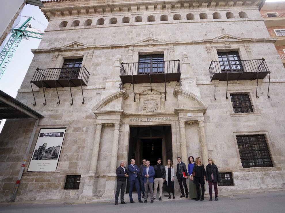 La fachada del Museo Provincial de Teruel, recién restaurada.