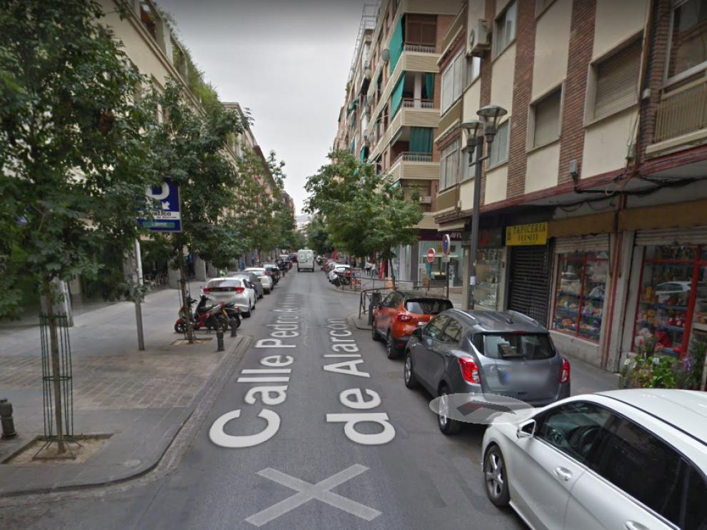 Calle Pedro Antonio de Alarcó en Granada, donde tuvo lugar la reyerta