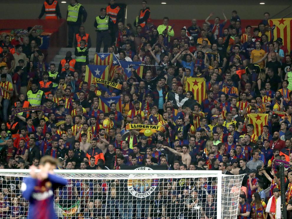 Aficionados del FC Barcelona en la Copa del Rey.