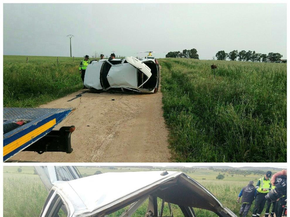 El accidente ocurrió en un camino sin asfaltar